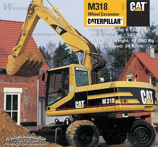 Caterpillar m318 photo - 2