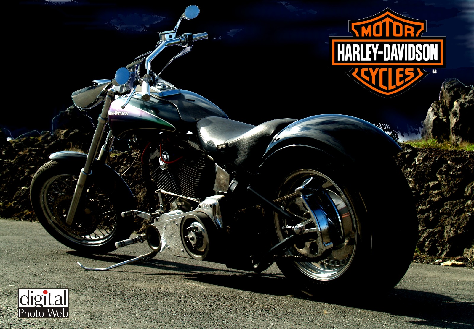 Harley-davidson chopper photo - 2