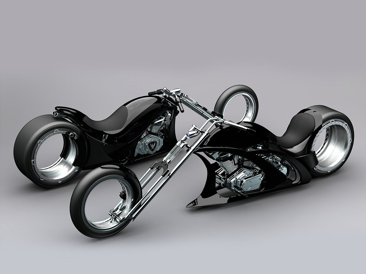 Harley-davidson chopper photo - 3