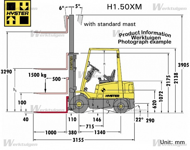 Hyster 1.50 photo - 3